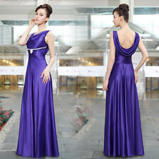 Ever Pretty Scoop Neckline Ruched Diamante Purple  Party Evening Dress 09919