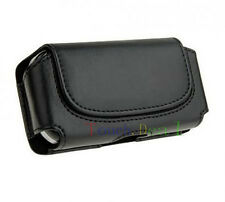 Black Belt Leather Skin Bag Pouch Case Cover FOR Nokia NOK Lumia cell Phones UK