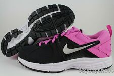 NIKE DART 10 GS/PS BLACK/SILVER/RED VIOLET PURPLE RUNNING WOMENS US YOUTH SIZES