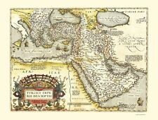 Old Middle East Map - Middle East, Asia, Eastern Mediterranean - 1570 - 23x30