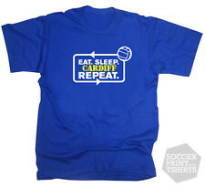 Funny Eat Sleep Cardiff Repeat T-Shirt Soccer Sport Football Championship