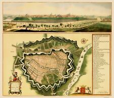 GDANSK POLAND PANORAMIC BY PETER WILLER 1687
