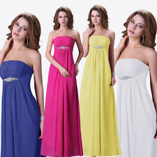 Casual Women Strapless Pageant Cocktail Gowns Prom Formal Lady Office Dresses