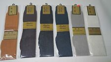New Mens Over The Calf 100% Stretch Nylon Thick&Thin Silky Ribbed Dress Socks