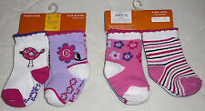4 8 pk Sonoma Socks 3-12 mo 2-4 Gripper Girls Baby Infant Children Toddler Kids
