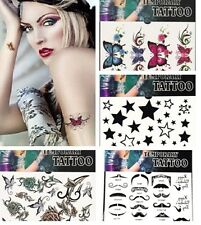 HOT 4 STYLES Gothic Sexy Temporary Tattoo Stickers Party Fancy Body Art Makeup