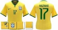 *14 / 15 - NIKE ; BRAZIL PLAYER ISSUE HOME SHIRT SS / MAZINHO 17 = SIZE*