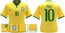 *14 / 15 - NIKE ; BRAZIL PLAYER ISSUE HOME SHIRT SS / PELE 10 = SIZE*