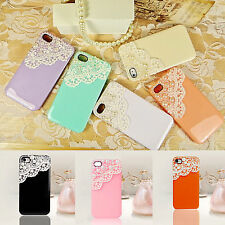 1pc 3D Lace Pearl Ice Cream Hard Back Case Cover Skin for iPhone 5 5S 4 4S