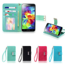 IZENGATE ID Wallet Flip Case PU Leather Cover Folio for Samsung Galaxy S5