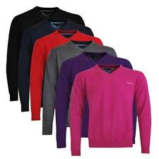 Pierre Cardin Herren V-Neck Pullover Rot, Pink, Anthrazit, Navy, Purple