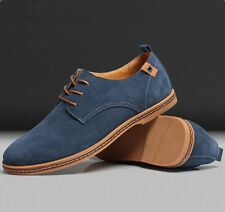 Fashion Mens Casual Dress Formal Oxfords Flats Shoes Stylish Suede Lace Up Flats