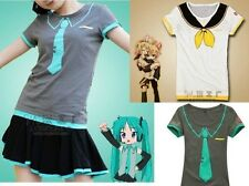 && Vocaloid Hatsune Miku/Kagamine Rin/Len T-Shirt Cosplay Lady Girls Summer Wear