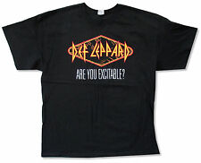 "DEF LEPPARD ""EXCITABLE SPRING 2013 TOUR"" BLACK T-SHIRT NEW OFFICIAL ADULT"