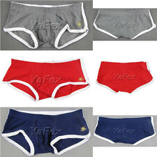 100% Brand New Comfort Trunks Sexy Underwear Men's Boxer Briefs Cotton Shorts