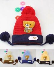 New Baby Infant Newborn Warm Knit Hat Cap Pom-Pom Beanie 3 Colours