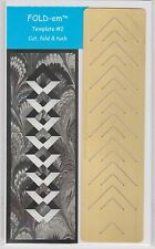 Assorted FOLD-EM cutting templates (Lace' style) -