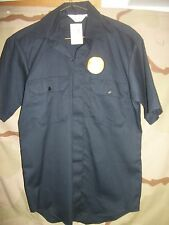 LION APPAREL NAVY BLUE UNIFORM SHORT SLEEVE WORK SHIRTS, NEW STYLE #1532