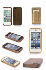 Handmade Eco Wooden Bamboo/Walnut/Rose Hard Wood Case for apple iPhone 4s/5s