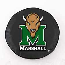 Marshall Thundering Herd NCAA Exact Fit Black Vinyl Spare Tire Cover by HBS