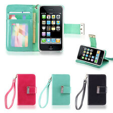 IZENGATE ID Wallet Flip Case PU Leather Cover Folio for Apple iPhone 3G 3GS