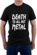 DEATH TO ALL BUT METAL T-Shirt Panther Slogan heavy steel metal Black Tee