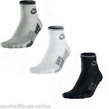 Nike ( 1 Pair ) Quarter Mens Sports Socks Running Fitness White Black Grey S- XL