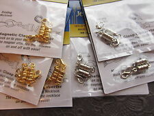 Magnetic Clasp Converters Lot of 6 pc Lobster Claw Choice Silver or Gold Clasps