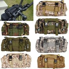 Outdoor Sport Military Tactical Hiking Bike Cycling Nylon Shoulder Waist Bag New