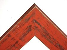 """1.5"""" Country Bourbon Orange Rustic Distressed Weathered Picture Frame-Panoramic"""
