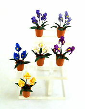 Dolls House Miniature Garden Accessory Terracotta Plant Pot With Lily Flowers