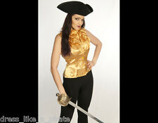 DRESS LIKE AN AIRSHIP PIRATE! STEAMPUNK FITTED LOLITA SLEEVELESS BLOUSE S-3X