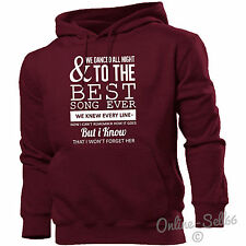 And We Danced All Night To The Best Song Ever Hoodie Men Women Kids Music Lyrics
