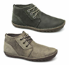 Caterpillar CAT LEROY MID Mens Leather Suede Lace-Up Casual Ankle Chukka Boots