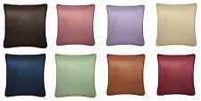 STYLISH ELLA SATIN PLAIN DYE PIPED CUSHION COVERS (PAIR) AVAILABLE IN 8 COLOURS