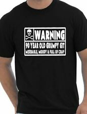 90 Year Old Git Mens Funny 90th Birthday Gift Fathers Day T-Shirt Size S-XXL