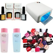 CCO UV Nail Gel 36W Lamp Set Shellac Cleanser Remover Top Base Gel Starter kit