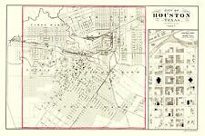 Old City Map - Houston Texas - 1884 - 23 x 34.46