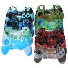 Camouflage Silicone Rubber Soft Case Skin Cover for PlayStation 4 PS4 Controller