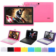"""7"""" Android 4.4 A33 Quad Core / Camera 8G 512M WiFi Tablet PC + Keyboard For Kids"""