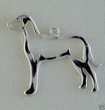 Great Dane Outline Dog Necklace Jewelry ~ .925 Sterling Silver