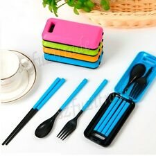 Multicolor Travel Portable Detachab Cutlery Box Chopstick Fork Spoon Set Packag