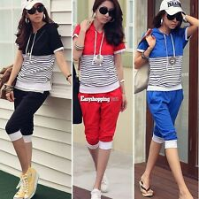 2014 women's fashion Short sleeve sweater casual sports shorts Two-piece suit