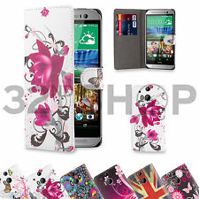 WALLET FLIP PU LEATHER CASE COVER For HTC One M8 / Mini / Max + SCREEN PROTECTOR