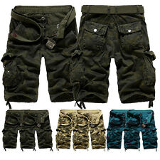 New Mens Casual Military Army Cargo Camo Combat Work Shorts Pants Trousers