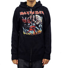 Global Iron Maiden Number of the Beast Mens Zippered Hoodie