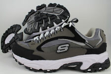 SKECHERS STAMINA NUOVO EXTRA WIDE 2E CHARCOAL GRAY/BLACK CROSS-TRAINER MEN SIZES