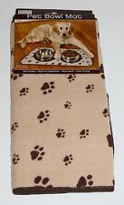 Microfiber Pet Bowl Mat Dog Cat Food Water Absorbent