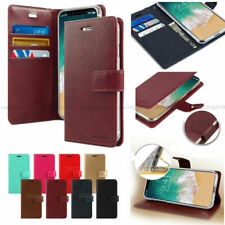 For iPhone 4 4S/5 5S/5C/6 Purse Wallet Case Cover Card/Bill Slot+Color Film lot