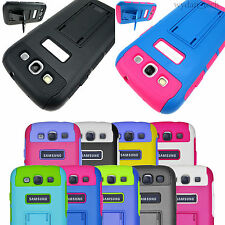 For Samsung Galaxy S3 S III Hybrid Impact Dual Layer Stand Case Rugged Cover